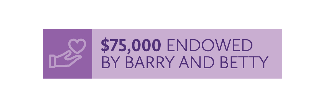 $75,000 endowed by Barry and Betty